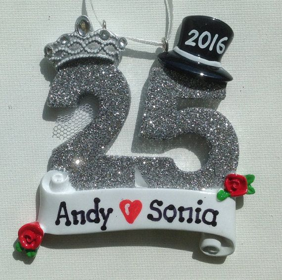 Personalized 25th Wedding Anniversary by SantasElvesWorkshop