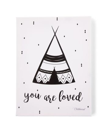 ÖlBild YOU ARE LOVED (30x40) in schwarz/weiß Kinder