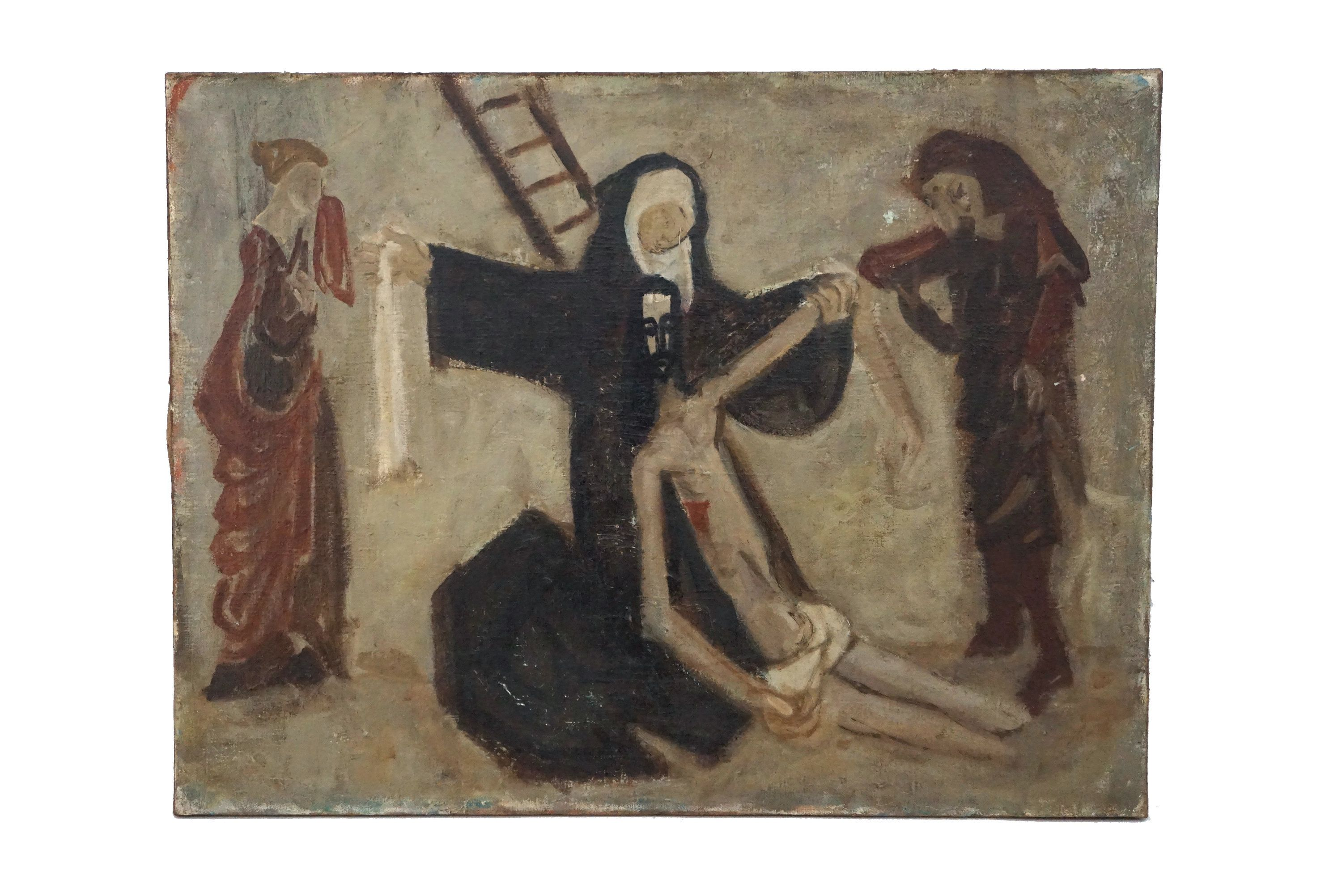 Crucifixion Of Jesus Christ With Virgin Mary Saint John And Mary Magdalene Christian Wall Hanging Art In 2020 Painting Pugs And Kisses Hanging Art