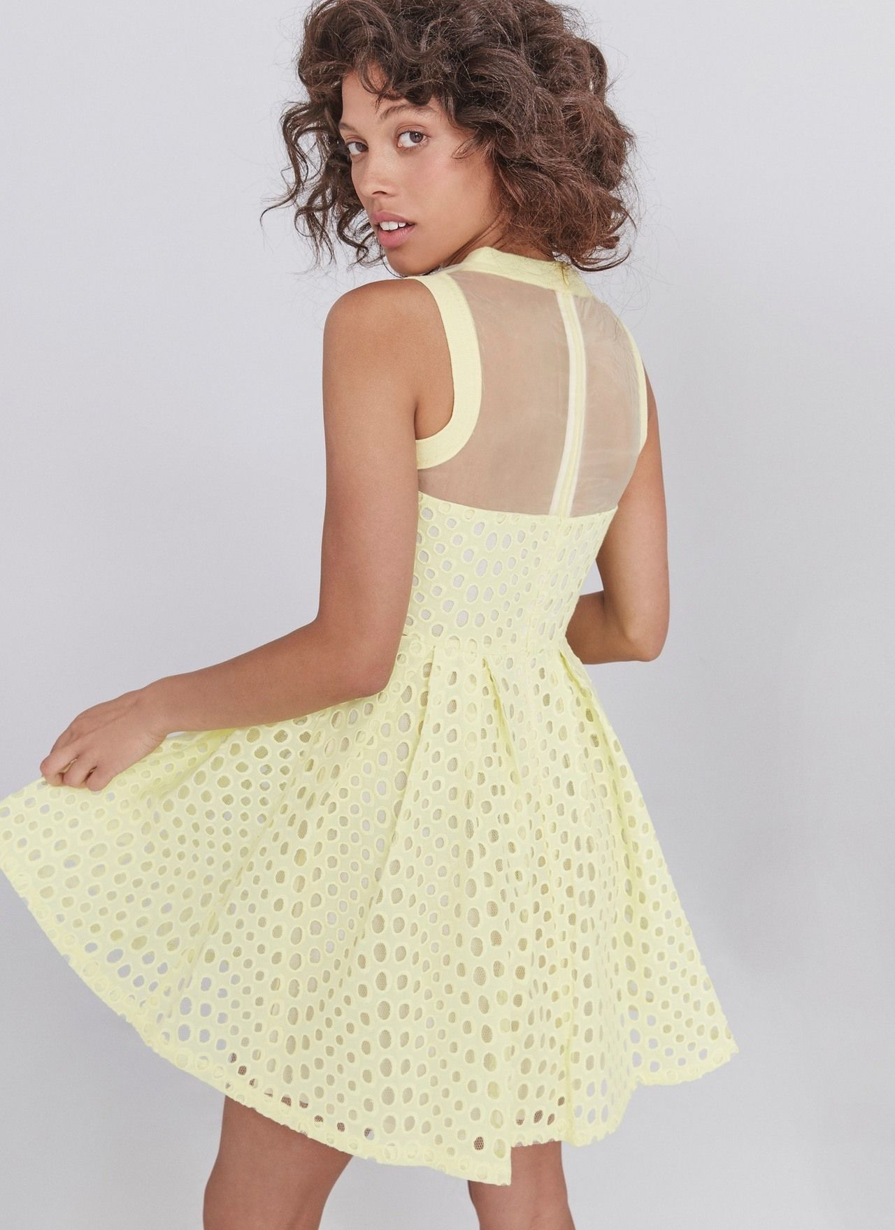 Vestido lady troquelado - Vestidos | Adolfo Dominguez shop online