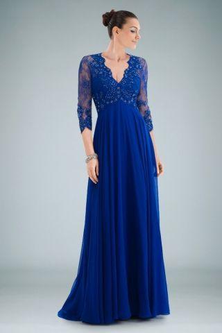 Evening dress blue lace dresses