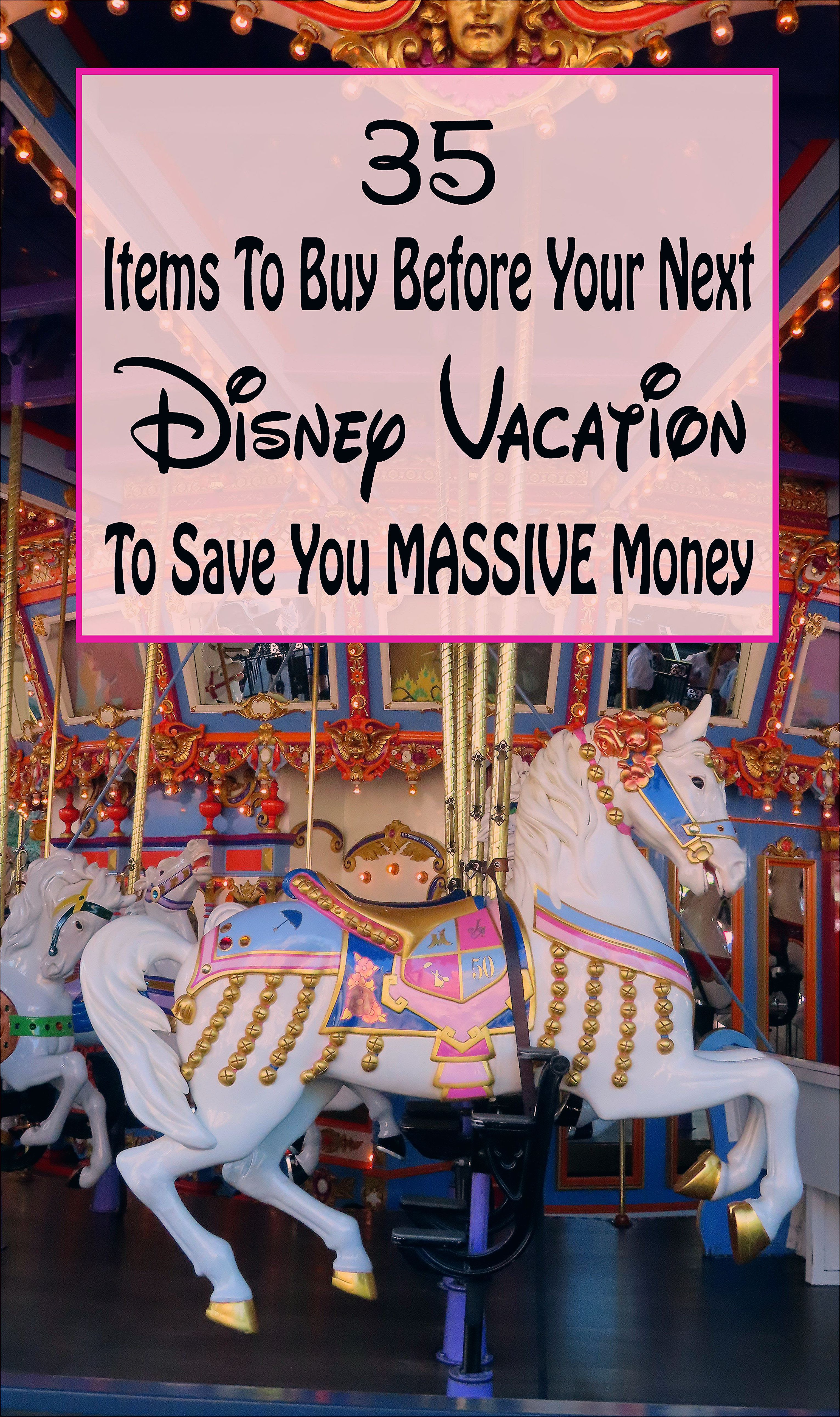 Photo of What to buy and pack for your next Disney vacation to save money!