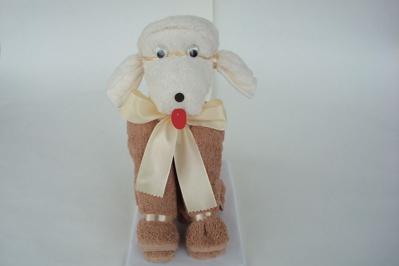 "Handtuchfiguren ""Pudel Paul"" Artikel Nr. 0110 von Handtuchfiguren auf DaWanda.com"