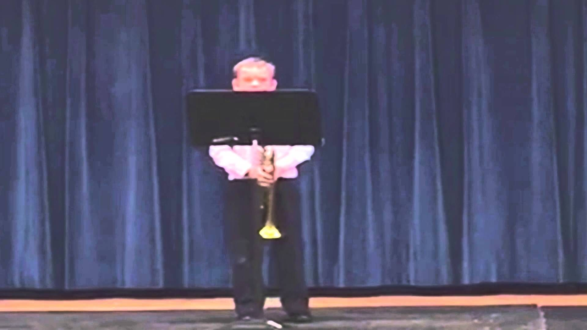 Confident Trumpeter Moonwalks Off The Stage