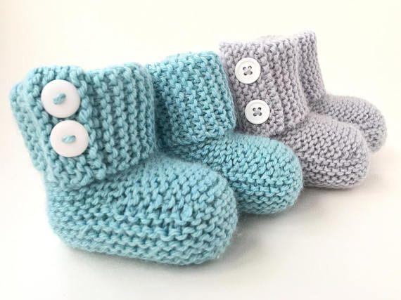 This Baby Booties Knitting Pattern Is An Easy Pattern For Modern