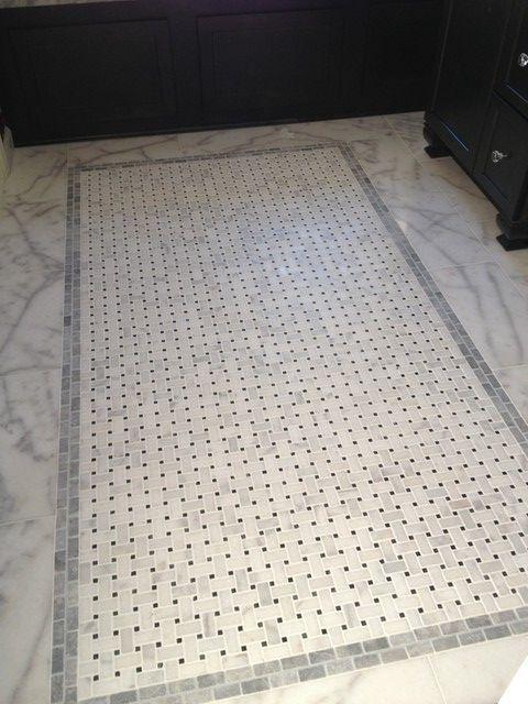 Marble Basketweave Floor Tile Marblebathroom