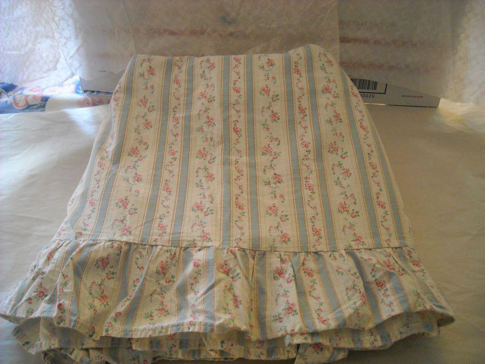 Details about Ralph Lauren Rosalie Queen size flat sheet ruffled ...