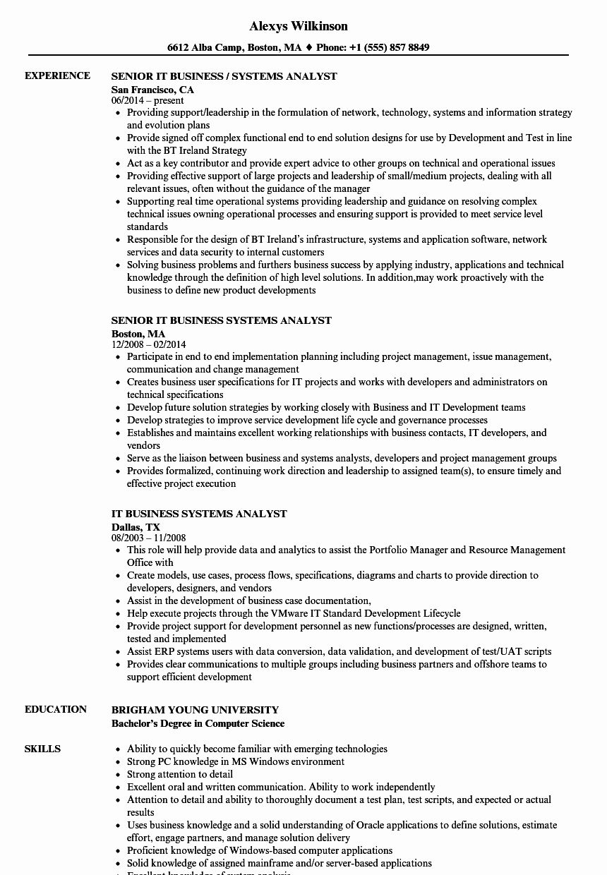 23 business analyst resume examples in 2020 with images