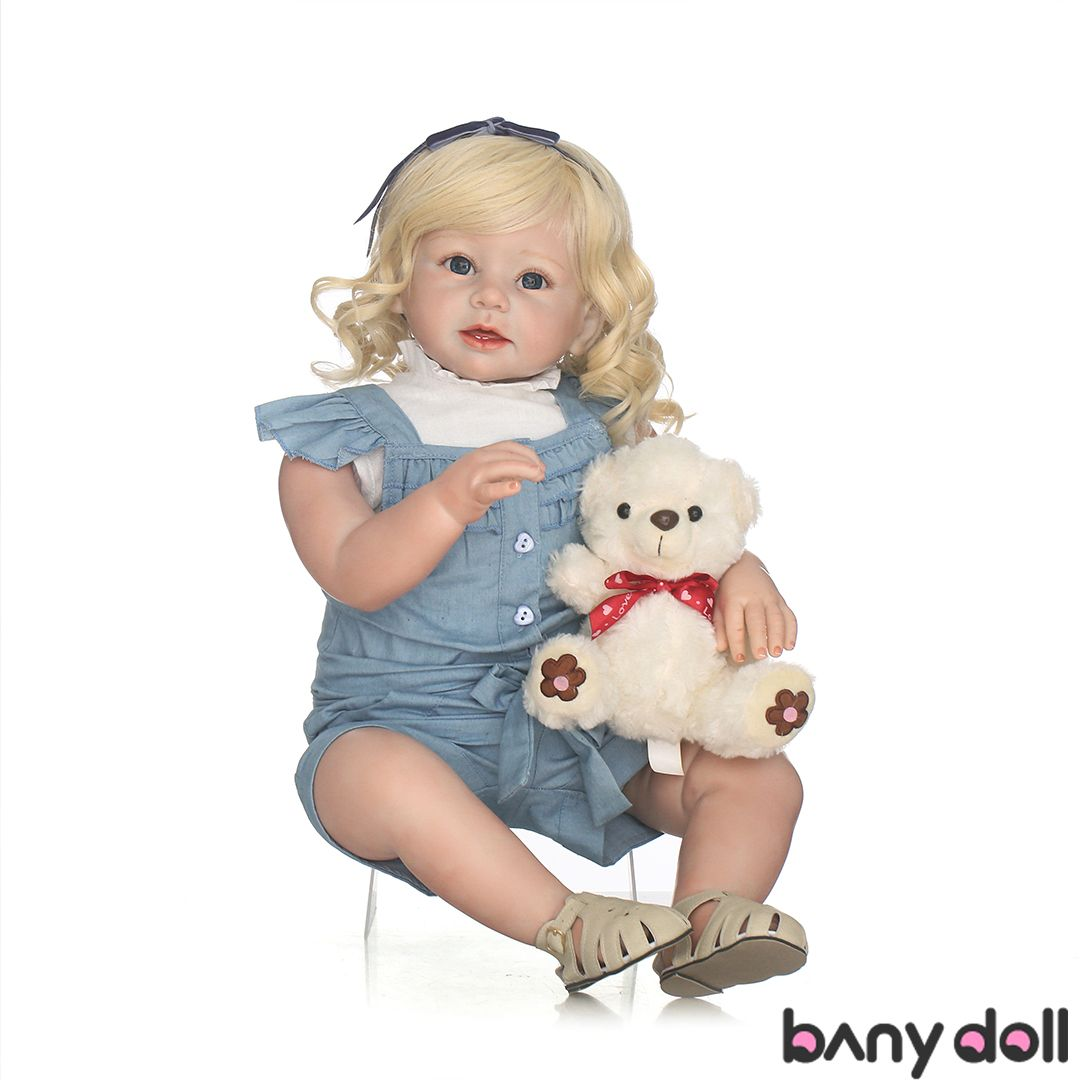 28 Inches 1 Year Old Baby Doll Diana With Curly Hair With Images