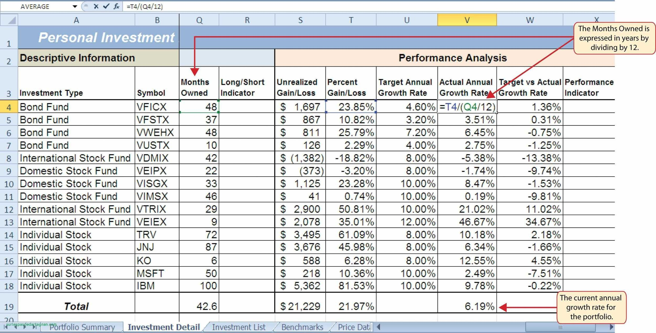 New Investment Excel Template Exceltemplate Xls