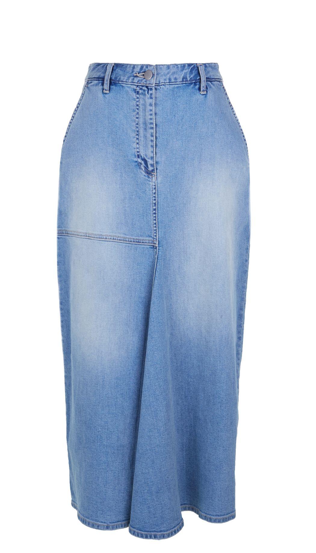 Tibi   Blue Vintage Wash High Waisted Denim Skirt   Lyst
