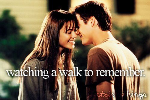 I don't care how many times I see this movie, I WILL ALWAYS LOVE it. A Walk to Remember <3