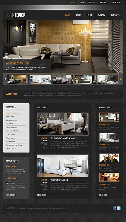Wordpress Interiorsdesign Theme 42065 75 We Use The Latest Technologies And Webdesign Tr Best Interior Design Websites Design Interior Design Furniture