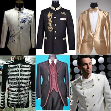 Mens Retro Modern Vintage Wedding Prom Business Dress Suits ...