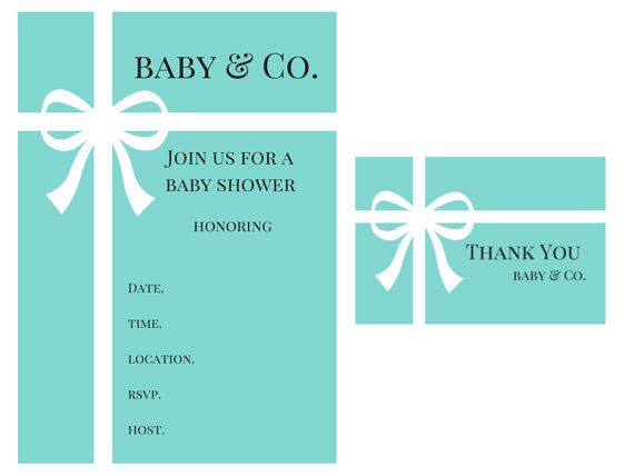 Tiffany baby shower tiffany invitations thank you card baby and tiffany baby shower tiffany invitations thank you card baby and co filmwisefo