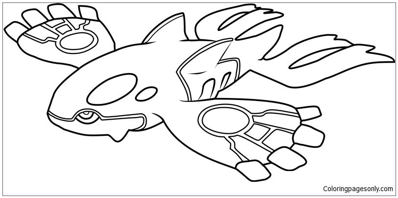 Kyogre Pokemon Coloring Page Gaming And Music Clip Art Pokemon