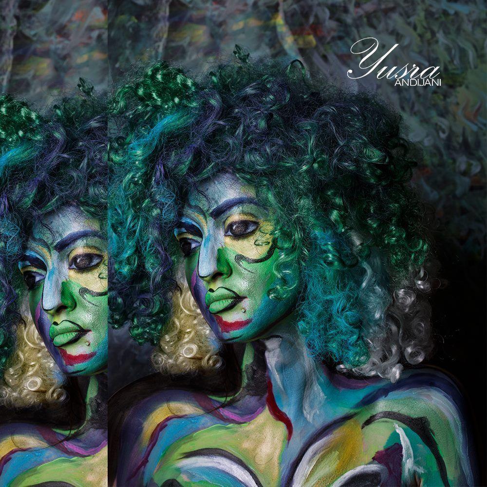 Artistic Picaso Inspired Look For A New Photoshoot لوك مستوحى من الفنان بيكاسو لجلسه تصوير جديده Picaso Painting Makeup Look Mak Art Painting Portrait