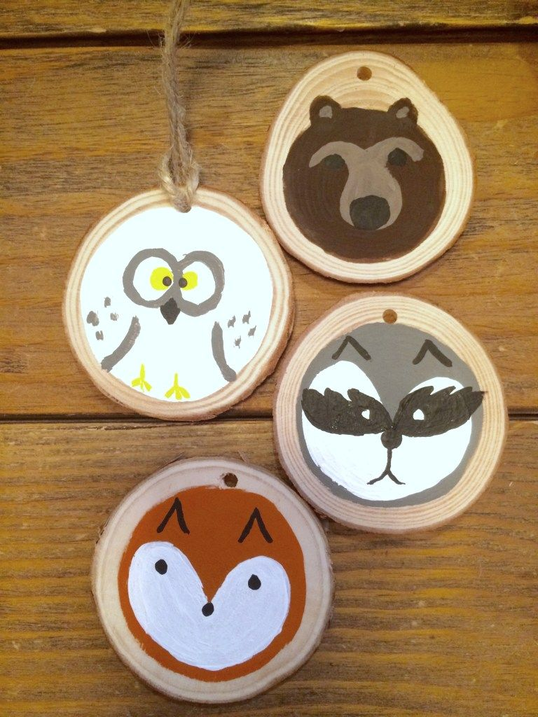 Diy Painted Woodland Animal Ornaments Woodland Animal Art Animal Ornament Woodland Animals