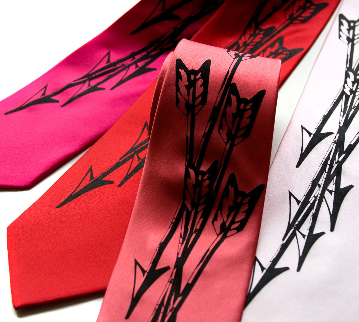 Quiver - Arrows. Archery silk screen printed necktie. Silkscreen design men's tie, black ink.. $40.00, via Etsy.