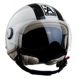 casque a style scooter moto fashion branch blanc noir perl casques a style pinterest. Black Bedroom Furniture Sets. Home Design Ideas