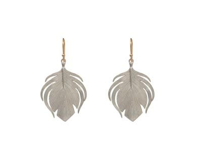 Annette Ferdinandsen | Peacock Feather Earrings in Designers Annette Ferdinandsen Earrings at TWISTonline