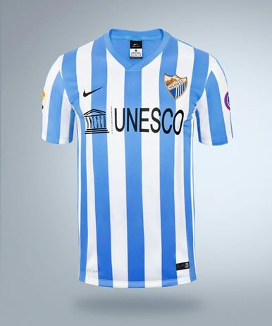 ff0b6eebd3786 Malaga CF 2014-15 Nike Home Kit