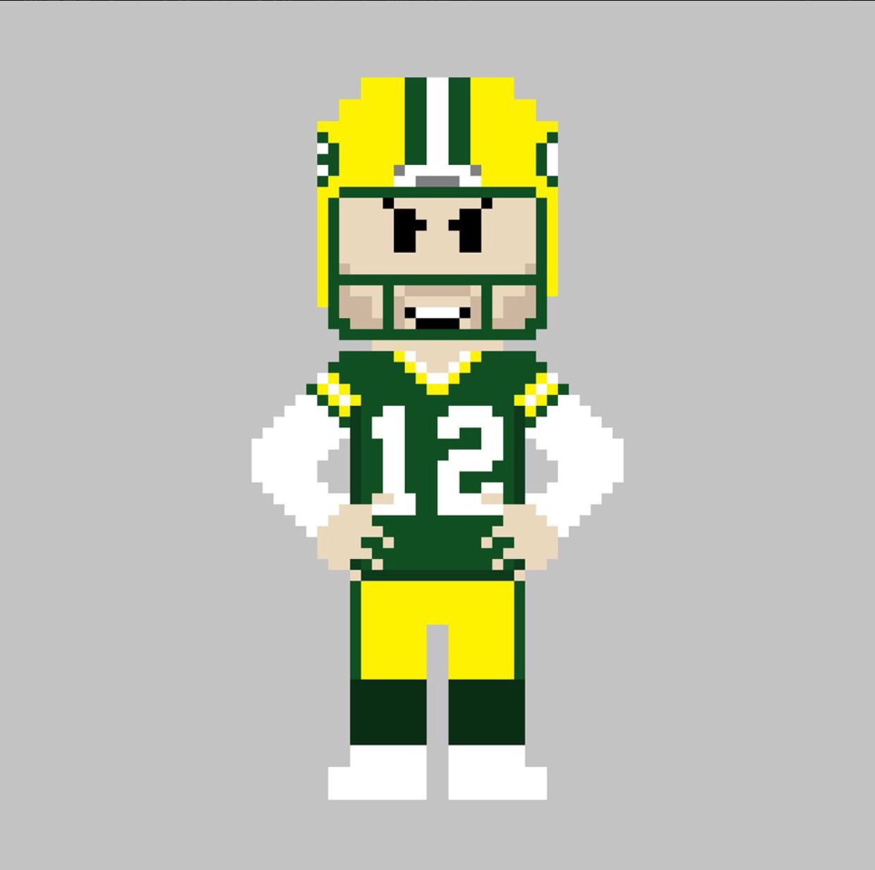 Green Bay Packers Qb Aaron Rodgers Packers 8 Bit Green Bay