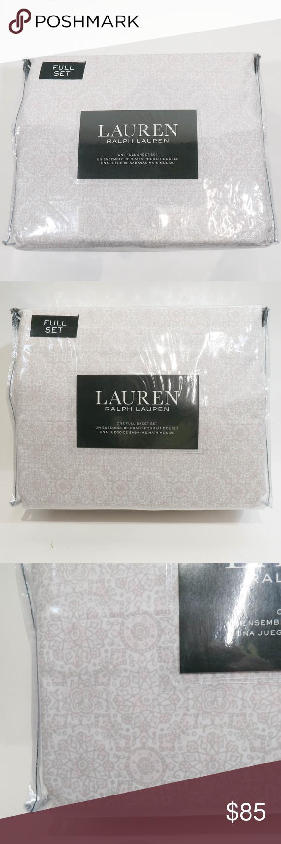 Ralph Lauren Full Sheet Set Tan Geometric in 2020 Sheet