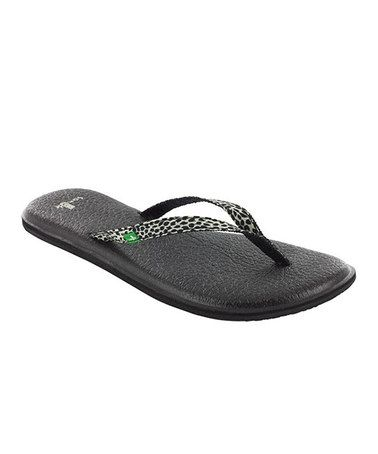 a1b1d63704f Take a look at this Black Yoga Spree Lynx Flip-Flop - Women by Sanuk on   zulily today!