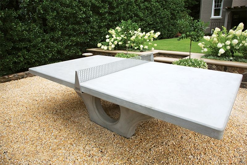 Henge Concrete Ping Pong Table Blends Sport And Art Concrete Table Concrete Decor Outdoor Ping Pong Table