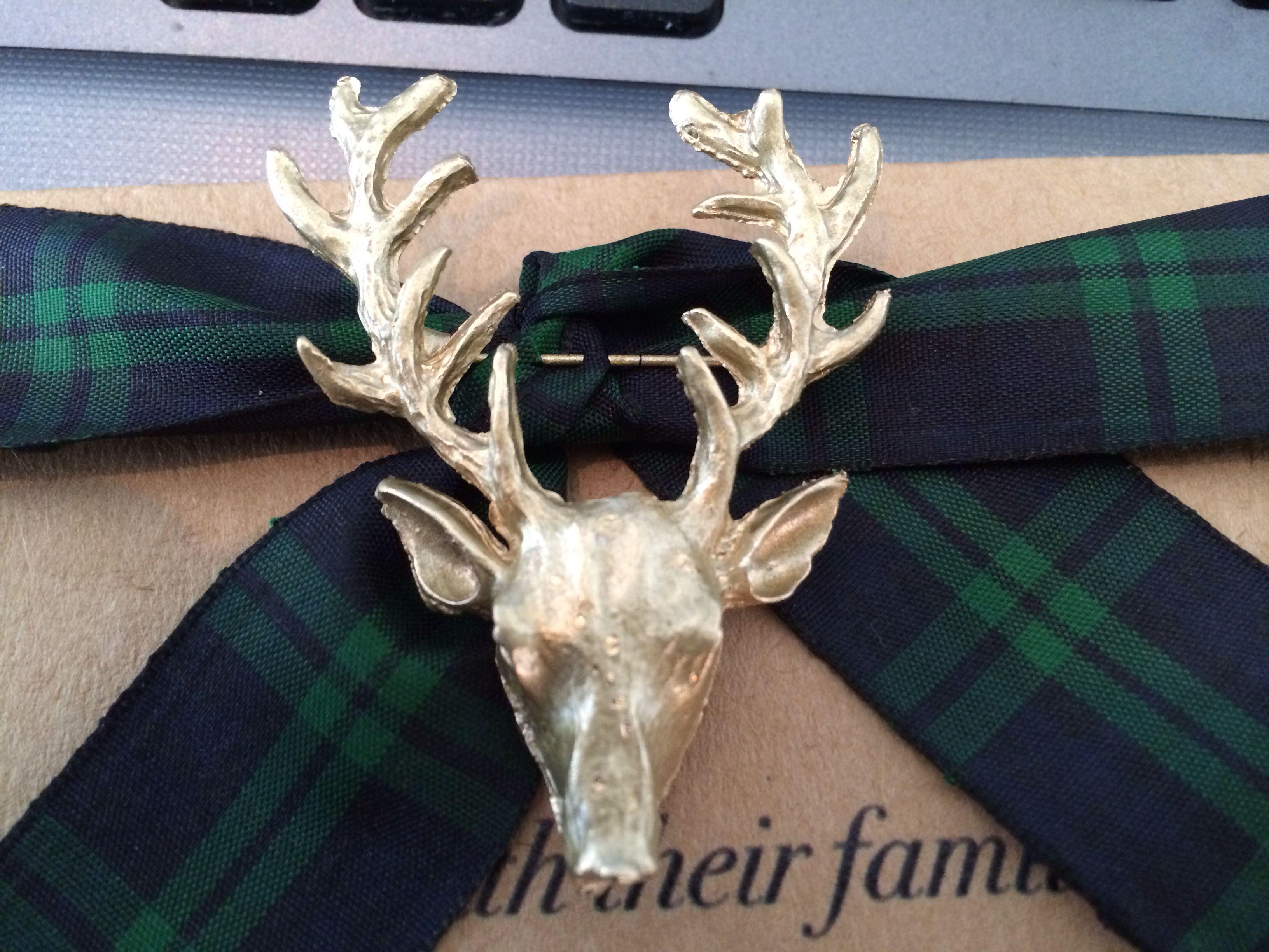 My beautiful rustic gold stag tartan scottish wedding invitation ...