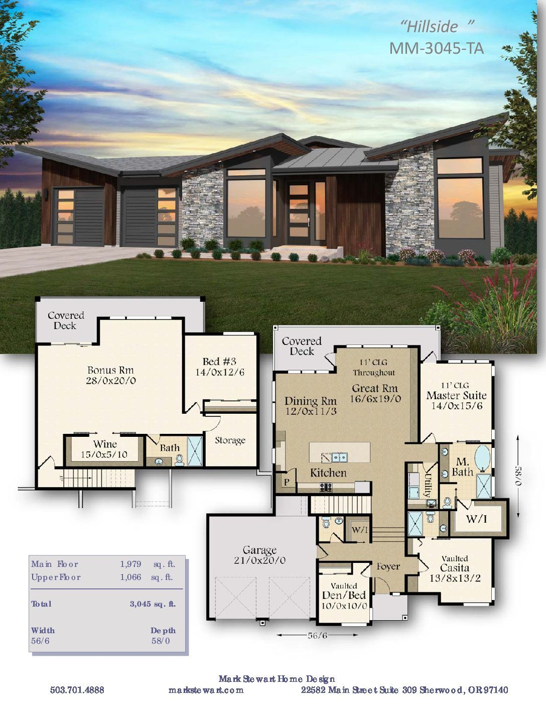 Hillside House Plan | Basement house plans, House plans ...
