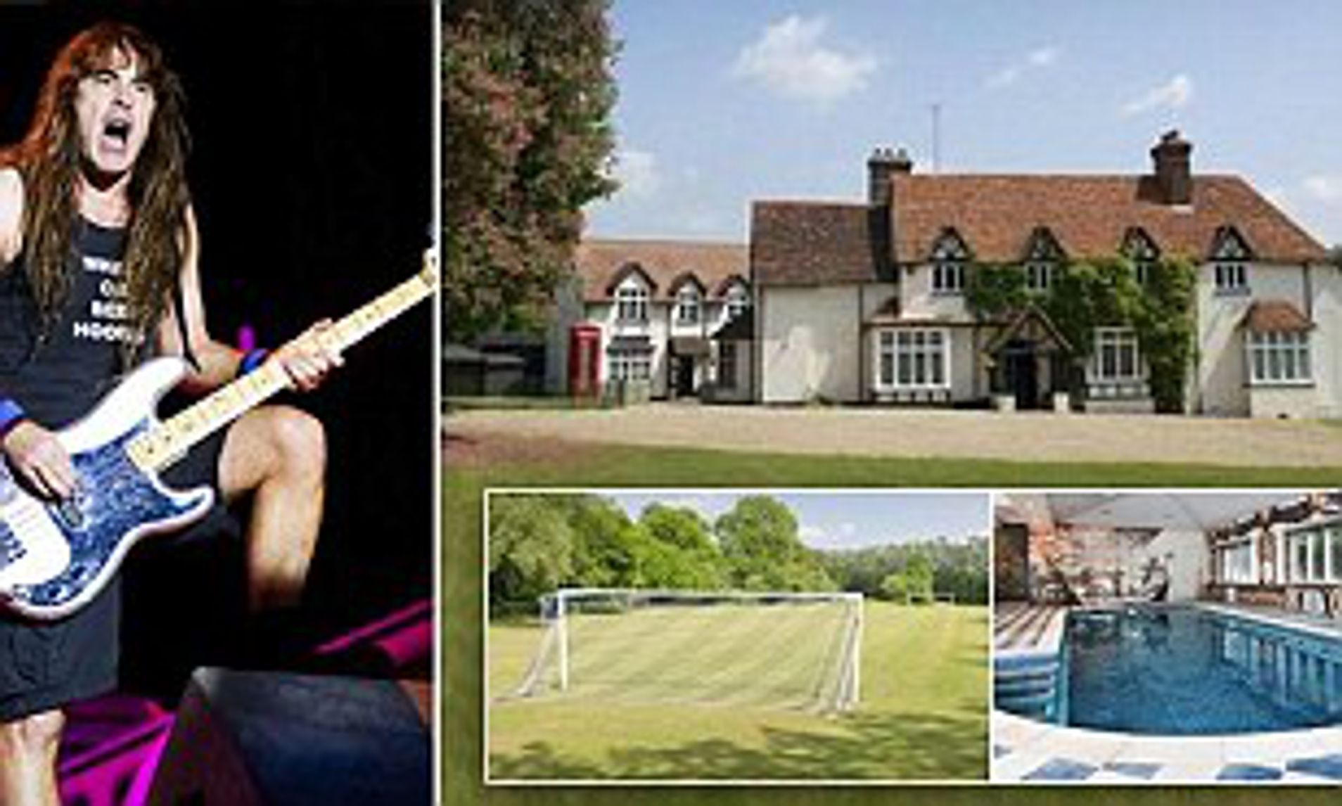 Iron Maiden bassist puts his £7m mansion on the market