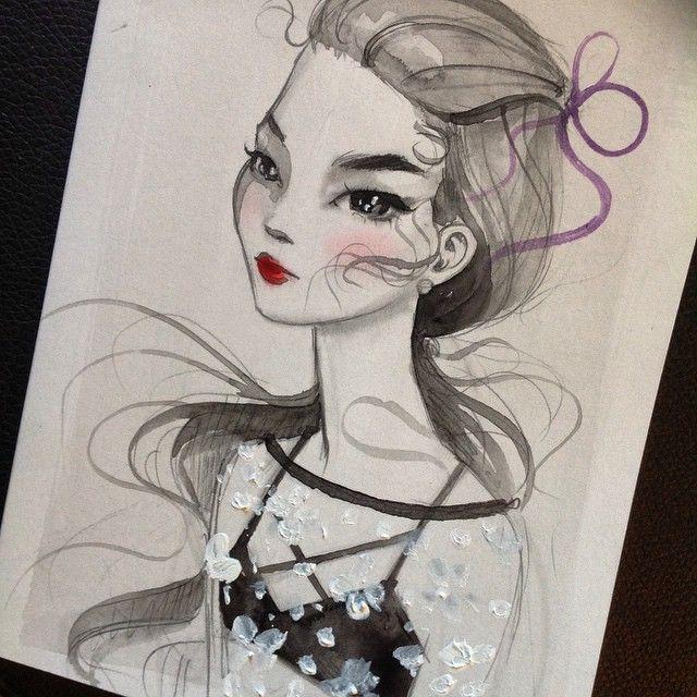 #PidginDoll watercolor sketch