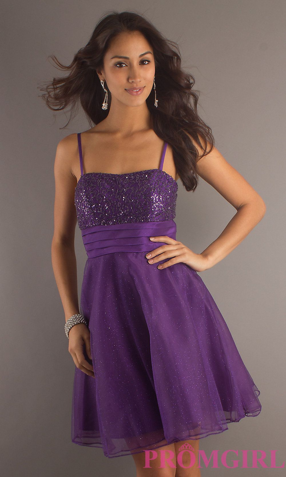 Purple with Gold Party Dresses for Teenagers