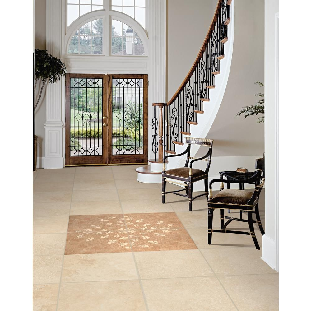 ms international castle 18 in. x 18 in. honed travertine floor and