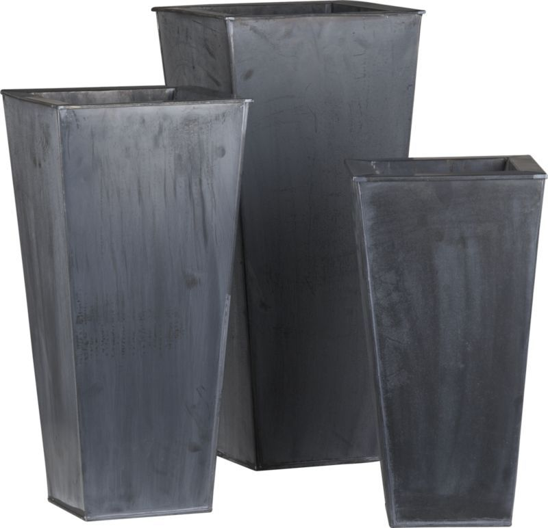 For Mothers Day Fill These Zinc Tall Square Planters With Flowers