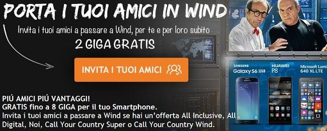 Wind Arriva A 2giga Amico Amici Porta