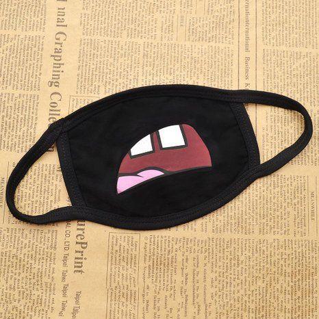 Amazon Com Unisex Lips Teeth Expression Black Face Costume Mouth