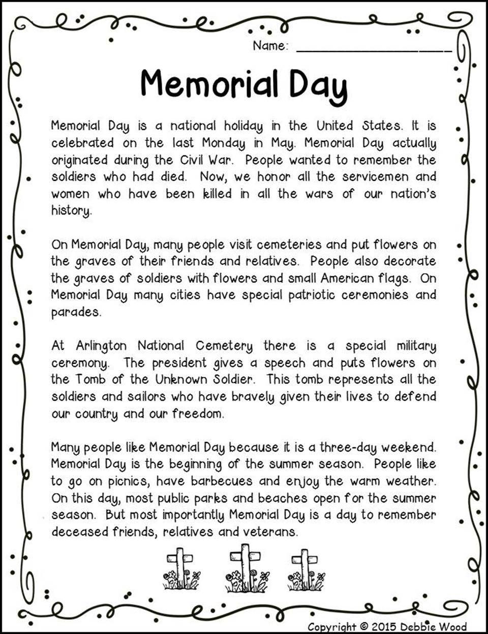 36+ Memorial day reading comprehension worksheets Images
