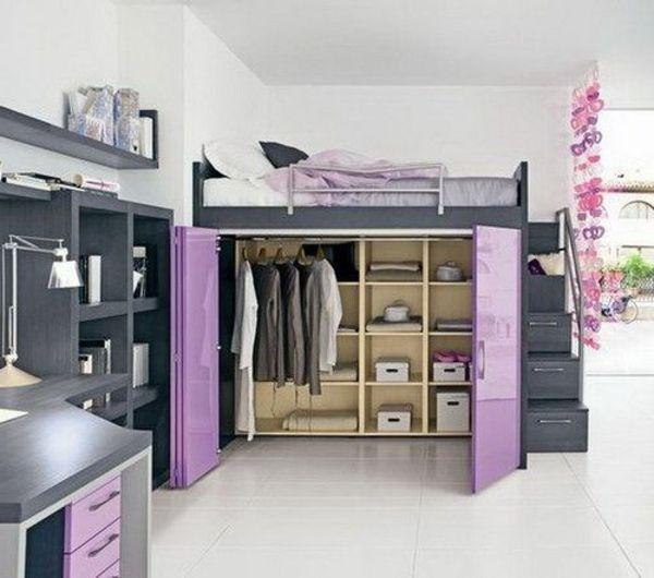 Queen Size Loft Bed With Closet | Wohnlandschaft Mit Bettfunktion U2013 Wie Man  Ein Kleines Ambiente .