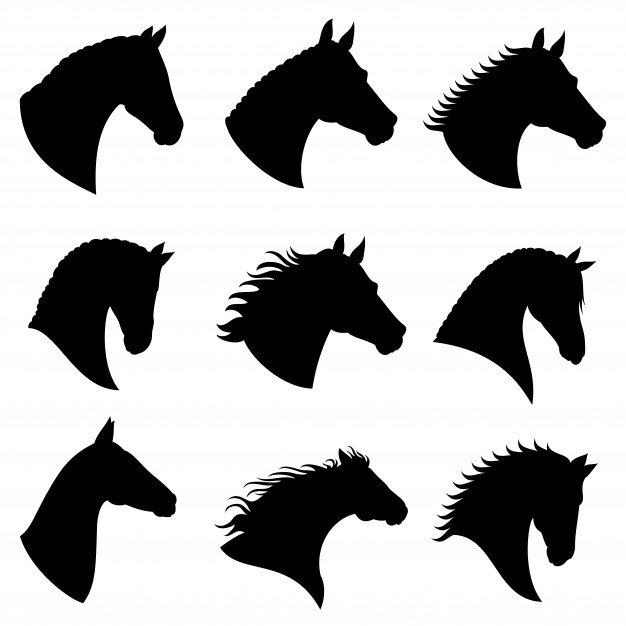 Horse Head Vector Silhouettes Horse Illustration Horse Silhouette Silhouette Head