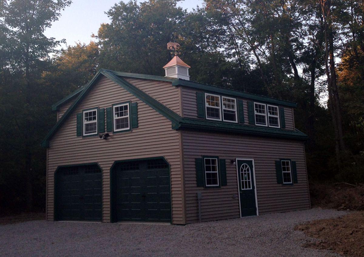 24x24 Modular Garage With Floor Living Quarters