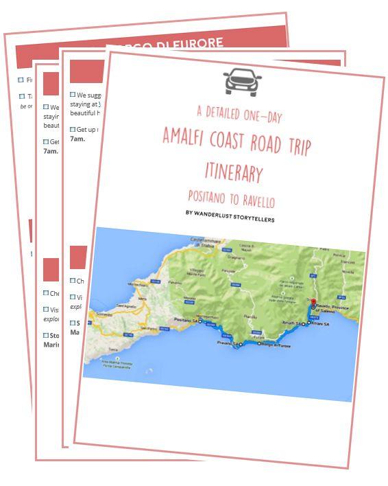 Printable Amalfi Coast Road Trip Itinerary Italy Amalfi