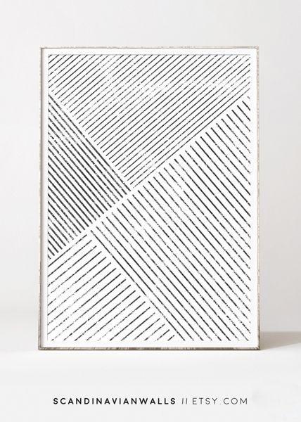 Minimalist wall art, affiche scandinave, geometric