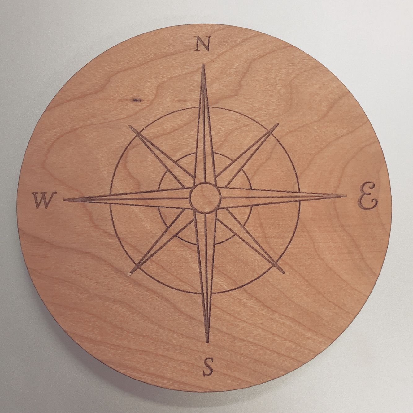 Can't find any coasters that match your decor? Design your own! #coasters #wood #custom #design #compass