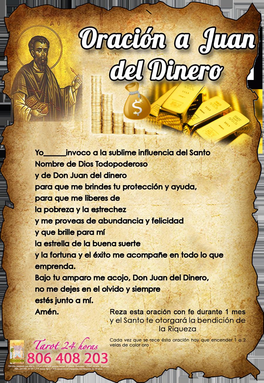Oración A Don Juan Dinero Hechizo Para Atraer Dinero Tarot De María Oracion Para El Dinero Oraciones Hechizos Para Atraer Dinero