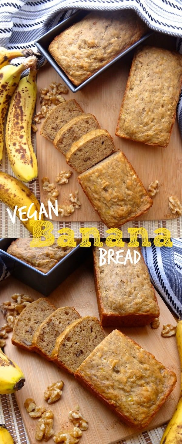 The Best Vegan Banana Bread w/ walnuts - Where You Get Your Protein #bananabread