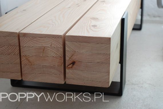 Handmade contemporary coffee table/ bench. Solid larch timber ...
