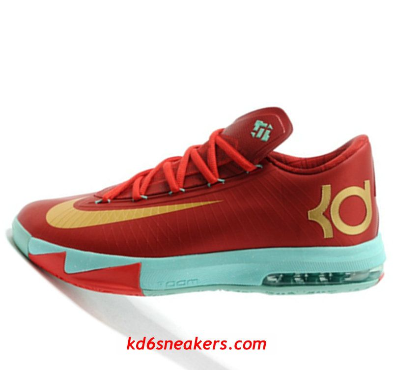 Nike KD VI 6 Christmas golden Kevin Durant Basketball shoes #KD ...